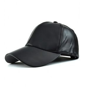 Accessories - Faux Leather baseball hat