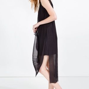 Zara Pleated Dress with Slits (new with tags)