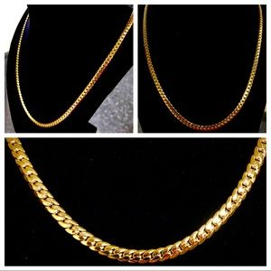 "Other - 14K Gold Plated 24"" x 4MM Miami Cuban Necklace"