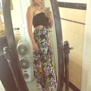Sexy floral maxi dress sz S
