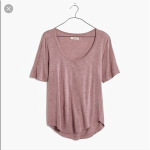 Madewell Anthem Elbow-length Scoop Neck Tee