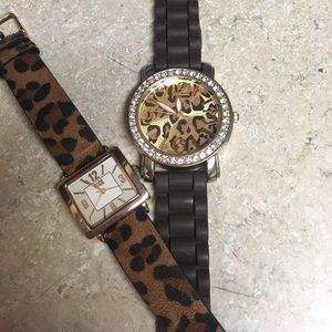 Accessories - Two leopard print watches🐆