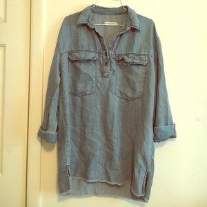 Zara Denim Shirt Dress