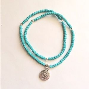 Jewelry - Turquoise tree of life anklet
