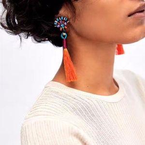 Jewelry - Statement Rhinestone Tassel Earrings