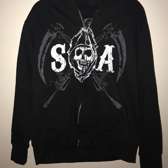6cd4b0cd SOA full zip men's medium hoodie. Jax/opie. M_5959056dd14d7b91a706e1e5