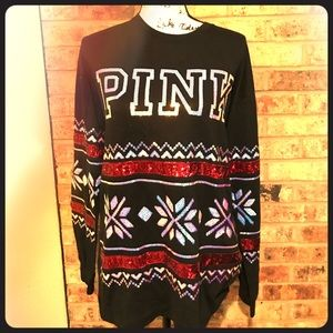 PINK sequin long sleeve