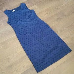 Talbots navy blue shift dress