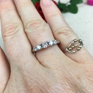Kaki Jo's Closet Jewelry - CZ Anniversary or Engagement Ring Sterling Silver
