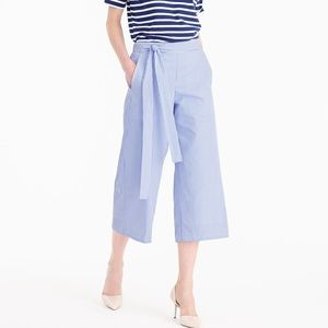 J. Crew stripe cropped wide leg pants sz 2