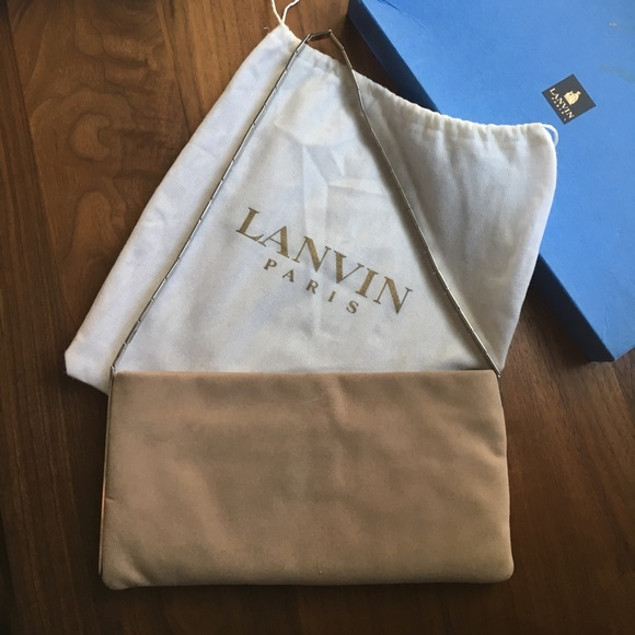 Lanvin Bags New Listing Vintage Suede Metal Bag Poshmark