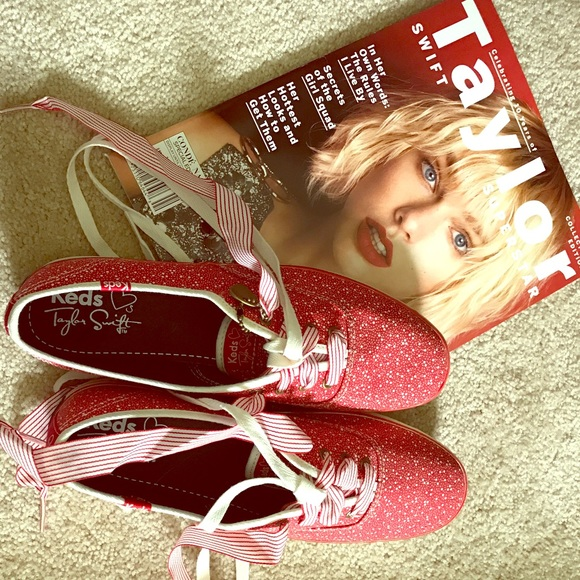 25b24055bee Keds Shoes - Taylor swift keds in red- never worn!