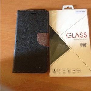 Accessories - iPhone 6 Plus wallet case& glass