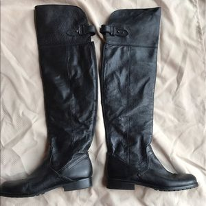 Steve Madden Monty Buckle Detail pull on boots 8