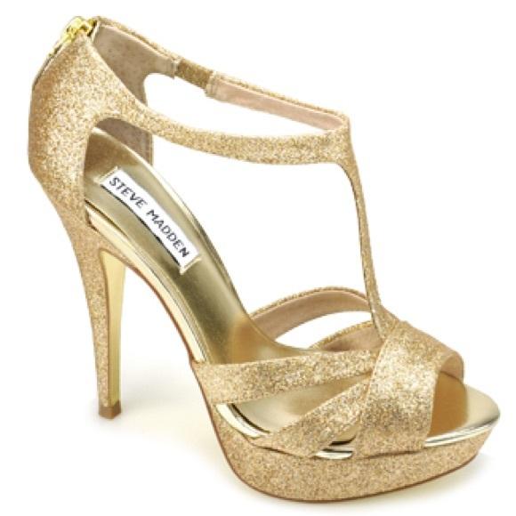 1ff862afc40 Brand new Steve Madden Gold Heels