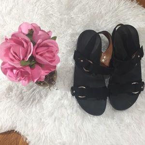 FitFlop VIA BAR BLACK Sandal EUC Sz 9