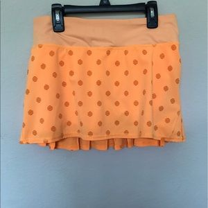 Lululemon creamsicle orange polka dot skirt