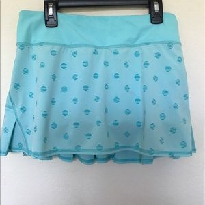 Lululemon polka dot skirt skort blue