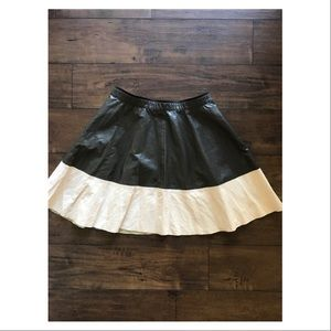 Zara Basic Color Block Polyurethane Full Skirt
