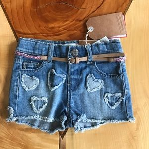Zara Baby Girl Denim Shorts 6/9 months NWT