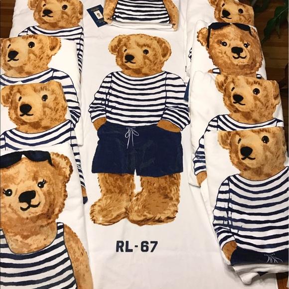 Ralph Lauren Mens Beach Towel: Polo Ralph Lauren Teddy Bear Beach