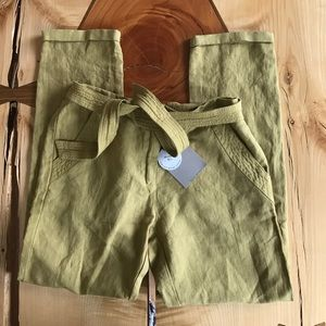 Zara Girls Soft Collection Linen Cotton Pants NWT