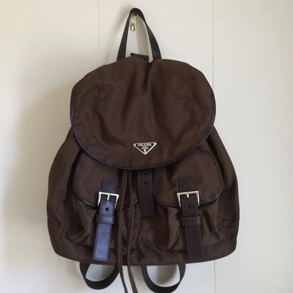 de21d73d7692 Authentic Brown Nylon Prada Backpack. M_595927fcbf6df5412200bea3