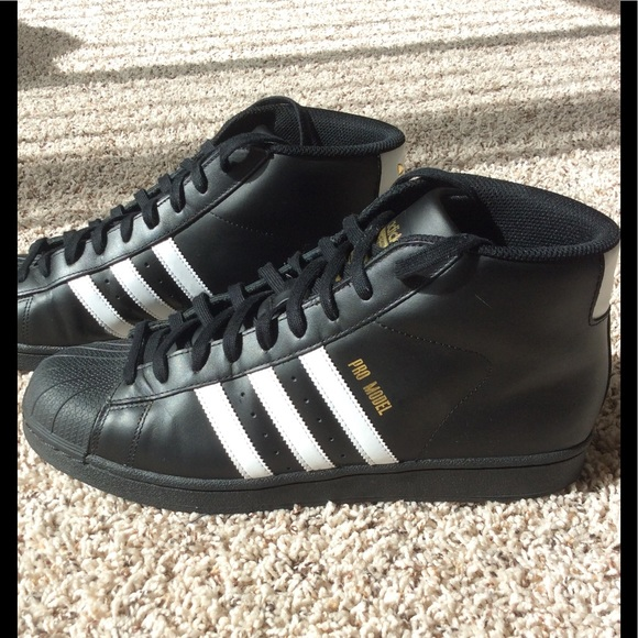 adidas Other - 👟 Adidas Pro Model Shell Toe High Top 074714114