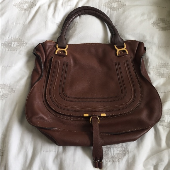 a1288a1c4dc7 Chloe Marcie Large Leather Satchel Bag