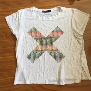 Brandy Melville Pineapple X Crop Top