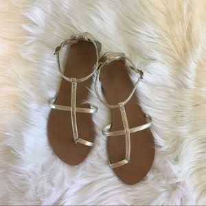 Shoes - Gold Gladiator Sandals
