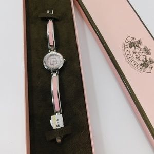Juicy Couture Pink and Silver Watch