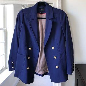 H&M navy blue blazer w/ gold nautical buttons (4)✨
