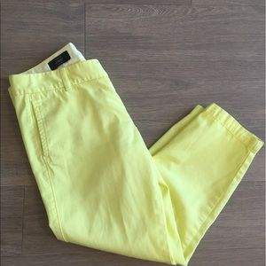 HP 🎉 J. Crew Yellow Scout Pants, Size 6