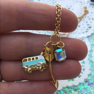 Vw bus charm necklace traveler summer boho gypsy