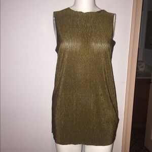 NWT Topshop reversible olive green top