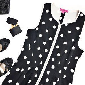 Betsey Johnson Front-Zip A-Line Dress