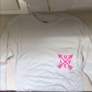 Tops - Super cute custom love shirt!! (Size S)