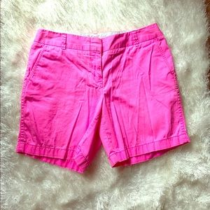 J. Crew Bright Pink Chino Shorts