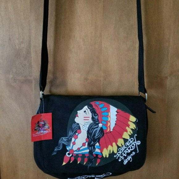 7df85ecb064 Ed Hardy Bags   Brand New With Tags Don Bag Embroidered   Poshmark