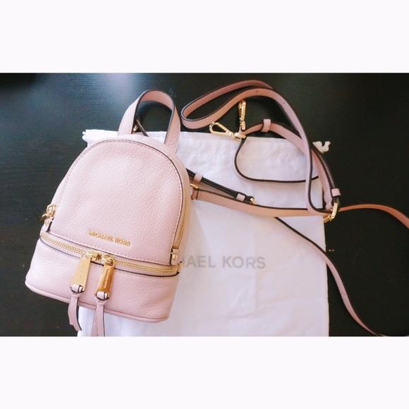 b985b36c136c Michael Kors Rhea mini backpack blossom pink. M 595942cf13302ac74d011c42