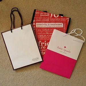 Coach kate spade and lululemon bags
