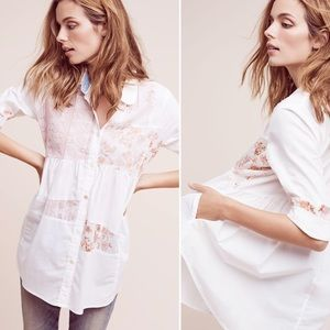 Maeve / Anthropologie Mavis Patchwork Button Down