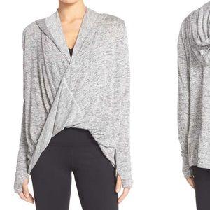 Dark grey zella wrap hoodie- xs