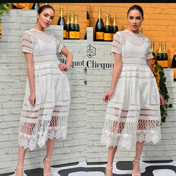 c246b5ff90ac Alexis Dresses   White Crochet Midi Dress   Poshmark