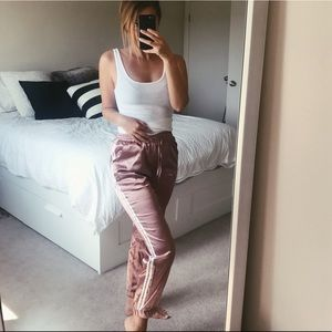 Other Pants - Satin Blush Pink Joggers