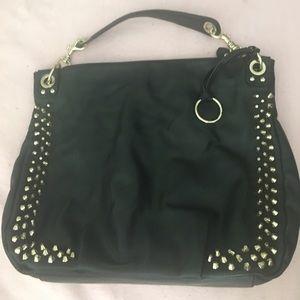 Handbags - ⭐️Pre-loved black & gold satchel⭐️