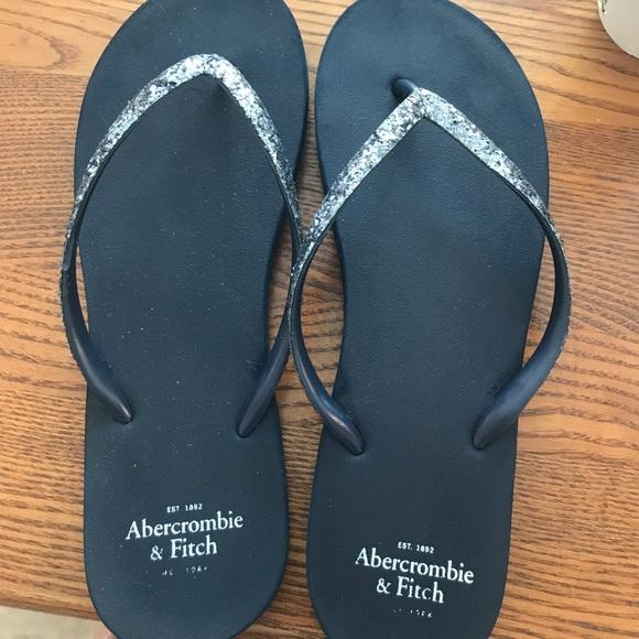 80ea4d369e6309 Abercrombie   Fitch Shoes - Navy blue glitter flip flops ☀️