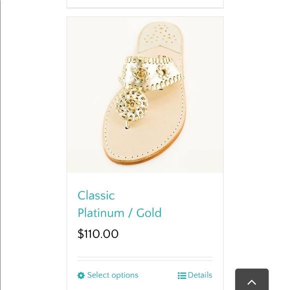 252e32c819682b Jack Rogers Shoes - Jack Roger Palm Beach platinum gold Sandals