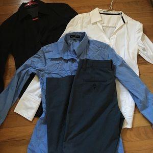 Pants - Navy Express pants & 3 Button Down shirts